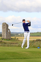 Alexander Wilson (Portmarnock) on the 13th tee during Round 2 of The South of Ireland in Lahinch Golf Club on Sunday 27th July 2014.<br /> Picture:  Thos Caffrey / www.golffile.ie
