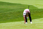 CROMWELL, CT. 20 June 2019-062019 - PGA Tour player Francisco Molinari places his ball down as the players were allowed to clean and place their ball due the inclement weather that was predicted, on the sixth hole, during the first round of the Travelers Championship at TPC River Highlands in Cromwell on Thursday. Bill Shettle Republican-American