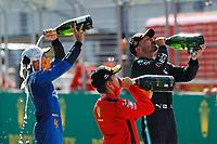 5th July 2020; Red Bull Ring, Spielberg Austria; F1 Grand Prix of Austria, Race Day;  16 Charles Leclerc MCO, Scuderia Ferrari Mission Winnow, 4 Lando Norris GBR, McLaren F1 Team, 77 Valtteri Bottas FIN, Mercedes-AMG Petronas Formula One Team