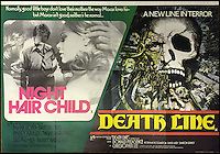 BNPS.co.uk (01202 558833)<br /> Pic: Cottees/BNPS<br /> <br /> Night Hair Child / Death Line 1972 Rank Film double-bill poster, starring Mark Lester.<br /> <br /> A horror fan has sold his chilling collection of cult movie posters - for a shocking &pound;25,000.<br /> <br /> The unnamed film buff collected over 100 posters that advertised scary movies like Dracula, Frankenstein, The Wicker Man and the Hammer Horror franchise.<br /> <br /> He has now sold them at Cottees Auctions of Wareham, Dorset, with one rare Dracula poster fetching over &pound;5,000 alone.