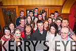 18th Bash<br /> ------------<br /> Gear&oacute;id Kelly,Knocknagoshel,centre,had a cracker celebrating his 18th birthday last Saturday night in the Riverisland hotel,Castleisland along with family&amp;friends