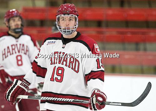 Jimmy Vesey (Harvard - 19) - The visiting Boston College Eagles defeated the Harvard University Crimson 5-1 on Wednesday, November 20, 2013, at Bright-Landry Hockey Center in Cambridge, Massachusetts.