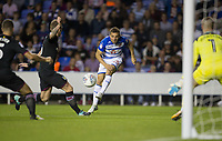 Adrian Popa of Reading scores a goal to make it 1 0 during the Sky Bet Championship match between Reading and Aston Villa at the Madejski Stadium, Reading, England on 15 August 2017. Photo by Andy Rowland / PRiME Media Images.