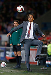 Chris Coleman manager of Wales eye on the ball during the World Cup Qualifying Group D match at the Cardiff City Stadium, Cardiff. Picture date 2nd September 2017. Picture credit should read: Simon Bellis/Sportimage