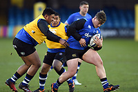 Nick Auterac of Bath United in action during the pre-match warm-up. Aviva A-League match, between Bath United and Harlequins A on March 26, 2018 at the Recreation Ground in Bath, England. Photo by: Patrick Khachfe / Onside Images