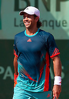 FERNANDO VERDASCO (ESP)..Tennis - Grand Slam - French Open- Roland Garros - Paris - Sat May 26th 2012..© AMN Images, 30, Cleveland Street, London, W1T 4JD.Tel - +44 20 7907 6387.mfrey@advantagemedianet.com.www.amnimages.photoshelter.com.www.advantagemedianet.com.www.tennishead.net