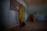 A teacher gives lessons in the compound of the Cluster resource Center of Lafaissa, Somali Region, Ethiopia on Monday November 9 2009. .The Lafaissa facility is supported by the British non governmental organization Save the Children UK..