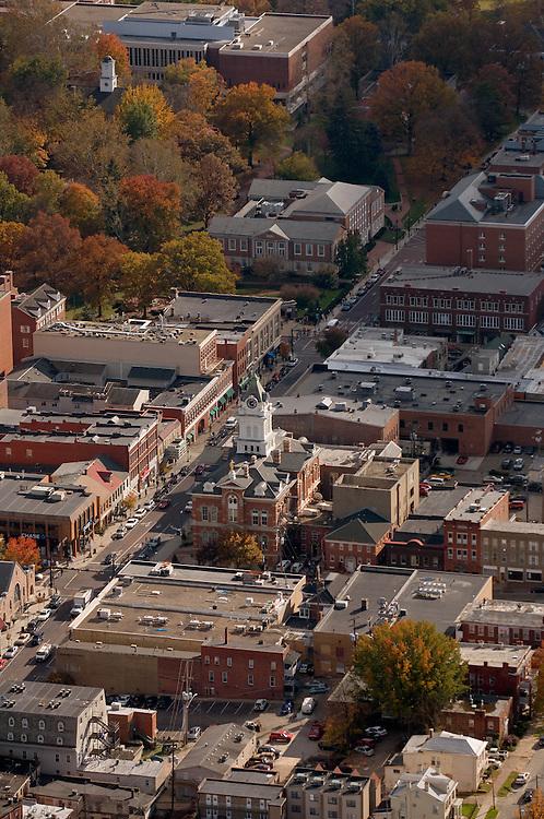 Aerial view of Court Street. © Ohio University
