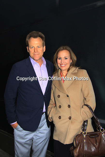 """General Hospital's Kin Shriner """"Scotty Baldwin"""" and Genie Francis """"Laura Spencer"""" helped GH celebrate its 50th Anniversary as they  taped Showbiz Tonight with host A.J. Hammer on April 1, 2013 in New York City, New York.  (Photo by Sue Coflin/Max Photos)"""