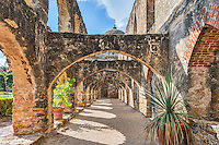 This is the Flying Buttresses at the Mission San Jose San Antonio Texas.