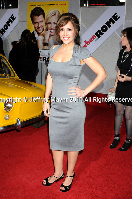 "HOLLYWOOD, CA. - January 27: Maria Canals-Barrera attends the ""When In Rome"" Los Angeles premiere at the El Capitan Theatre on January 27, 2010 in Hollywood, California."