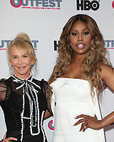 """LOS ANGELES, CA- Trudie Styler, Lavern Cox, At 2017 Outfest Los Angeles LGBT Film Festival - Closing Night Gala Screening Of """"Freak Show"""" at The Theatre at Ace Hotel, California on July 16, 2017. Credit: Faye Sadou/MediaPunch"""