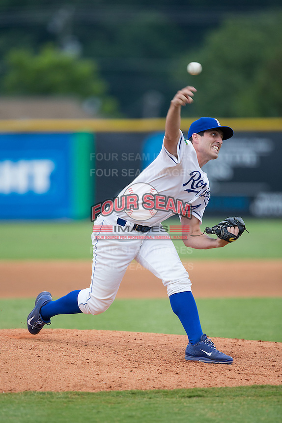 Burlington Royals pitcher Geoffrey Bramblett (41) in action against the Bluefield Blue Jays at Burlington Athletic Stadium on June 27, 2016 in Burlington, North Carolina.  The Royals defeated the Blue Jays 9-4.  (Brian Westerholt/Four Seam Images)