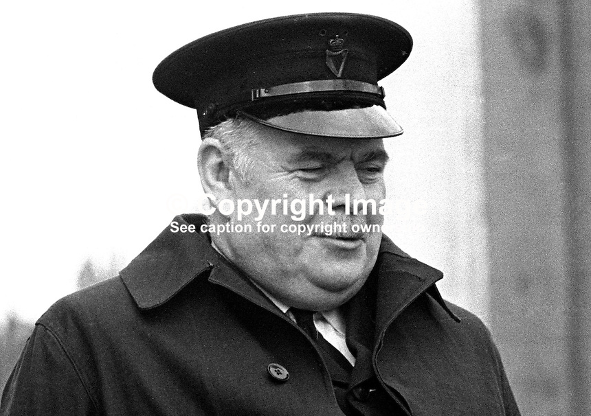 Head Constable Isaac Keightley, RUC, Belfast, N Ireland, 196911000014..Copyright Image from Victor Patterson, 54 Dorchester Park, Belfast, United Kingdom, UK...For my Terms and Conditions of Use go to http://www.victorpatterson.com/Victor_Patterson/Terms_%26_Conditions.html