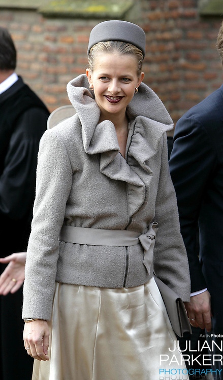 Princess Mabel attends the Christening of Crown Prince Willem-Alexander & Crown Princess Maxima's daughter Princess Alexia at the Dorpskerk in Wassenaar..