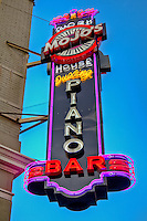 Mo Jo's piano bar on Garrison Avenue in historic downtown Fort Smith Arkansas.