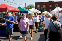 Farmers market in Charlottesville.