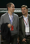 01 November 2007: Andell Holdings CEO Andrew Hauptman (l), the new owners of the Chicago Fire, with Chicago General Manager John Guppy (r). The Chicago Fire tied DC United 2-2 in the second leg of their Major League Soccer Eastern Conference Semifinal playoff series at RFK Stadium in Washington, DC. The Fire advanced to the next round, winning the series 3-2 on aggregate goals.
