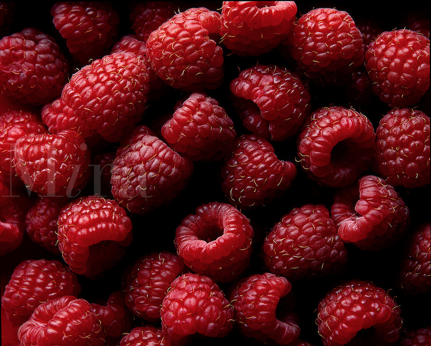 Red raspberries.