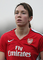 Corrine Yorston of Arsenal - Arsenal Ladies vs Sparta Prague - UEFA Women's Champions League at Boreham Wood FC - 11/11/09 - MANDATORY CREDIT: Gavin Ellis/TGSPHOTO - Self billing applies where appropriate - Tel: 0845 094 6026