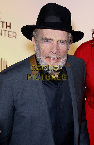 Merle Haggard.Grand opening of The Smith Center for the Performing Arts, Las Vegas, Las Vegas, Nevada, USA, .10th March 2012..portrait headshot beard facia hair black shirt grey gray jacket hat .CAP/ADM/MJT.© MJT/AdMedia/Capital Pictures.