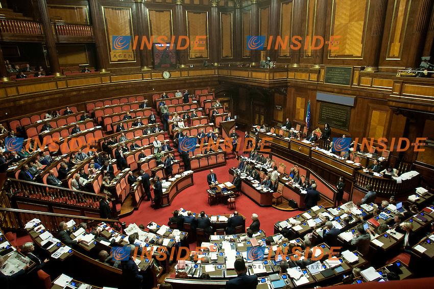 Panoramica<br /> Roma 08-08-2014  Senato. Discussione sul DdL Riforme costituzionali che prevede anche la riforma del Senato. <br /> Photo Samantha Zucchi Insidefoto