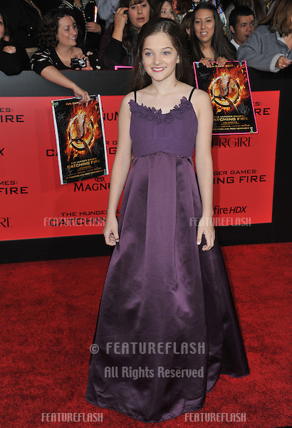 Erika Bierman at the US premiere of her movie &quot;The Hunger Games: Catching Fire&quot; at the Nokia Theatre LA Live.<br /> November 18, 2013  Los Angeles, CA<br /> Picture: Paul Smith / Featureflash