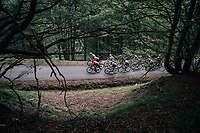 first grupetto up the Mur de Péguère (Cat1/1375m/9.3km/7.9%)<br /> <br /> 104th Tour de France 2017<br /> Stage 13 - Saint-Girons › Foix (100km)