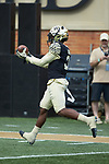 Wake Forest Demon Deacons wide receiver Greg Dortch (3) warms-up prior to the game against the Rice Owls at BB&T Field on September 29, 2018 in Winston-Salem, North Carolina. The Demon Deacons defeated the Owls 56-24. (Brian Westerholt/Sports On Film)