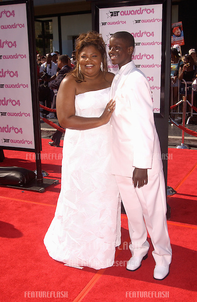 MO'NIQUE & son at the 2004 BET (Black Entertainment TV) Awards at the Kodak Theatre, Hollywood..June 29, 2004