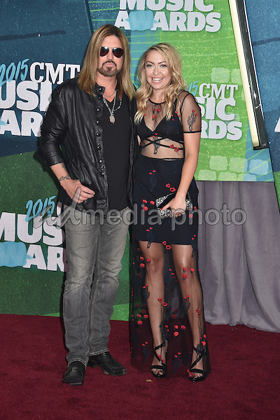 10 June 2015 - Nashville, Tennessee - Billy Ray Cyrus, Brandi Cyrus. 2015 CMT Music Awards held at Bridgestone Arena. Photo Credit: Laura Farr/AdMedia