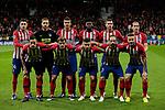 Atletico de Madrid's team photo during UEFA Champions League match between Atletico de Madrid and Borussia Dortmund at Wanda Metropolitano Stadium in Madrid, Spain. November 06, 2018. (ALTERPHOTOS/A. Perez Meca)