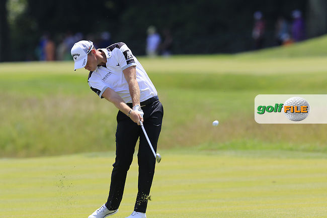 Danny Willett (ENG) on the 9th hole during Wednesday's Practice Day of the 2016 U.S. Open Championship held at Oakmont Country Club, Oakmont, Pittsburgh, Pennsylvania, United States of America. 15th June 2016.<br /> Picture: Eoin Clarke | Golffile<br /> <br /> <br /> All photos usage must carry mandatory copyright credit (&copy; Golffile | Eoin Clarke)