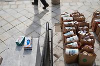 Belmont Food Pantry - Distribution during Coronavirus - Belmont MA - 21 Mar 2020