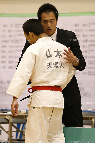 (L-R)<br /> Yuji Yamamoto,<br />  Takamasa Anai,<br /> September 13, 2014 - Judo : <br /> All Japan Juior Judo Championships <br /> Men's -73kg Final<br /> at Saitama Kenritsu Budokan, Saitama, Japan. <br /> (Photo by Shingo Ito/AFLO SPORT) [1195]