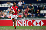 Tonga vs Guyana during the HSBC Sevens Wold Series Qualifier match as part of the Cathay Pacific / HSBC Hong Kong Sevens at the Hong Kong Stadium on 28 March 2015 in Hong Kong, China. Photo by Manuel Bruque / Power Sport Images