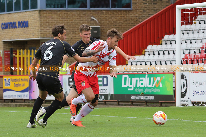 Jake Hyde of Stevenage in action during Stevenage vs MK Dons, Friendly Match Football at the Lamex Stadium on 30th July 2016