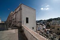 Castro Marina - Salento - Puglia - Case puntellate dopo il crollo del 31 gennaio 2009.