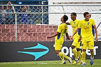 SÃO PAULO,SP,15 JANEIRO 2013 - COPA SÃO PAULO JUNIOR - PARANA x AUDAX  - jogadores do Audax  comemoram gol durante partida Parana válido pela 2º fase da Copa são Paulo de Juniores no Estádio Comendador Souza na tarde desta terça feira (15).FOTO ALE VIANNA - BRAZIL PHOTO PRESS.