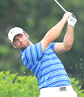 Paul Casey (ENG) on the 7th tee during Round 3 of the CIMB Classic in the Kuala Lumpur Golf & Country Club on Saturday 1st November 2014.<br /> Picture:  Thos Caffrey / www.golffile.ie