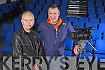 Listowel native Joe Murphy and Tralee camerman Rory Kirby of Road Sign Media, who will have their documentry aired this St Patrick's Day on TG4, pictured here last Tuesday in St John's Theatre, Listowel.