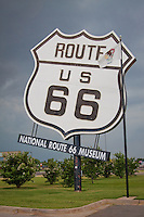 National Route 66 Museum sign in Elk City Oklahoma.