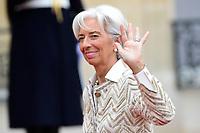 Christine Lagarde - presidente du FMI<br /> Parigi 11-11-2018 <br /> Eliseo Pranzo Ufficiale Capi di Stato <br /> Commemorazione 100 anni dalla fine della Grande Guerra, Prima Guerra Mondiale <br /> Foto JB Autissier/Panoramic / Insidefoto