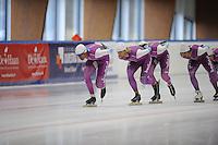 SCHAATSEN: LEEUWARDEN: 21-09-2015, Elfstedenhal, Daidai Ntab, Michel Mulder, Kai Verbij, ©foto Martin de Jong
