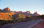 red rock formations and a highway in Sedona, Arizona