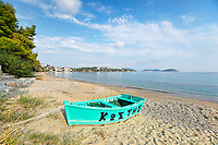 The beach Ftelia of Skiathos island, Greece