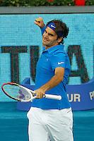 MADRID, ESPANHA, 13 MAIO 2012 - Madrid 2012 Open - Roger Federer  em partida contra Tomas Berdych na final Mutua Madrid Open 2012 na cidade de Madrid. Photo: Cesar Cebolla / Alfaqui/ Brazil Photo Press