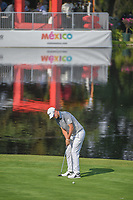 Bernd Wiesberger (AUT) watches his putt on 17 during round 1 of the World Golf Championships, Mexico, Club De Golf Chapultepec, Mexico City, Mexico. 3/1/2018.<br /> Picture: Golffile | Ken Murray<br /> <br /> <br /> All photo usage must carry mandatory copyright credit (&copy; Golffile | Ken Murray)