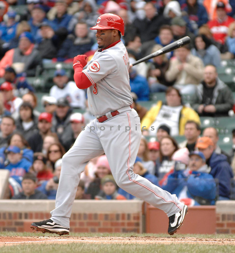 KEN GRIFFEY JR., of the Cincinnati Reds, in action during the Reds game against the Chicago Cubs in Chicago, Illinois on April 14, 2007...Reds win 7-0...DAVID DUROCHIK / SPORTPICS..