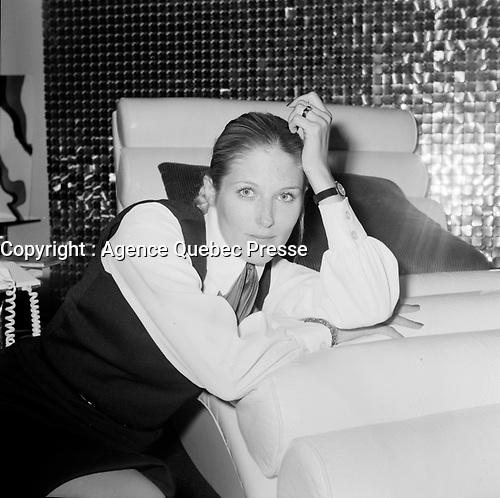 Daniele Ouimet et son amoureux<br />  (date inconnue, avant 1984),<br /> <br /> Photo : Agence Quebec Presse - Roland Lachance